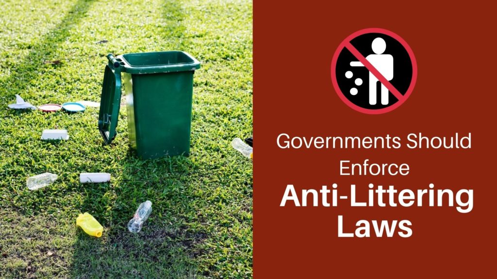 Anti-littering law title cover