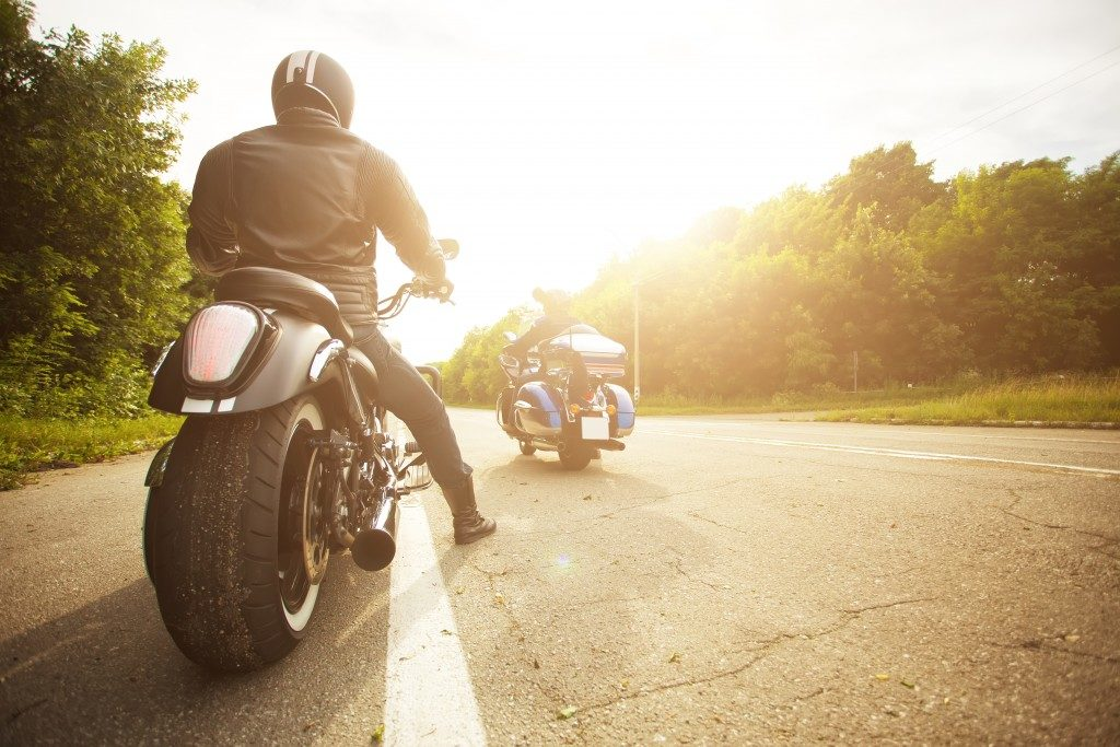 two bikers on the road