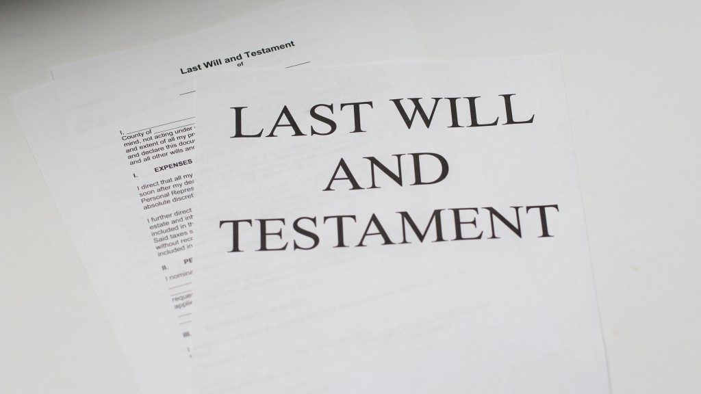 last will and testament white printer paper