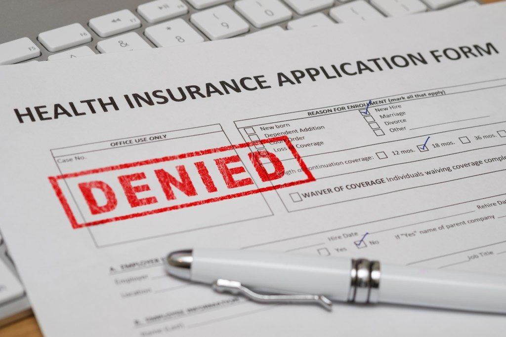denied health insurance claim