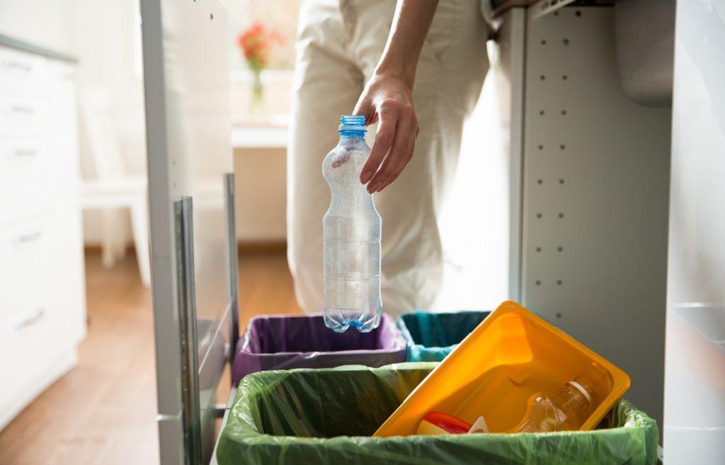 segregating the trash