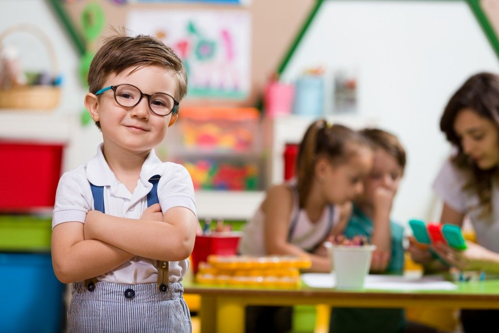 Little boy in classroom