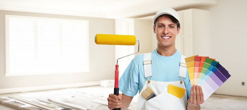 Hiring a professional to paint the house interior