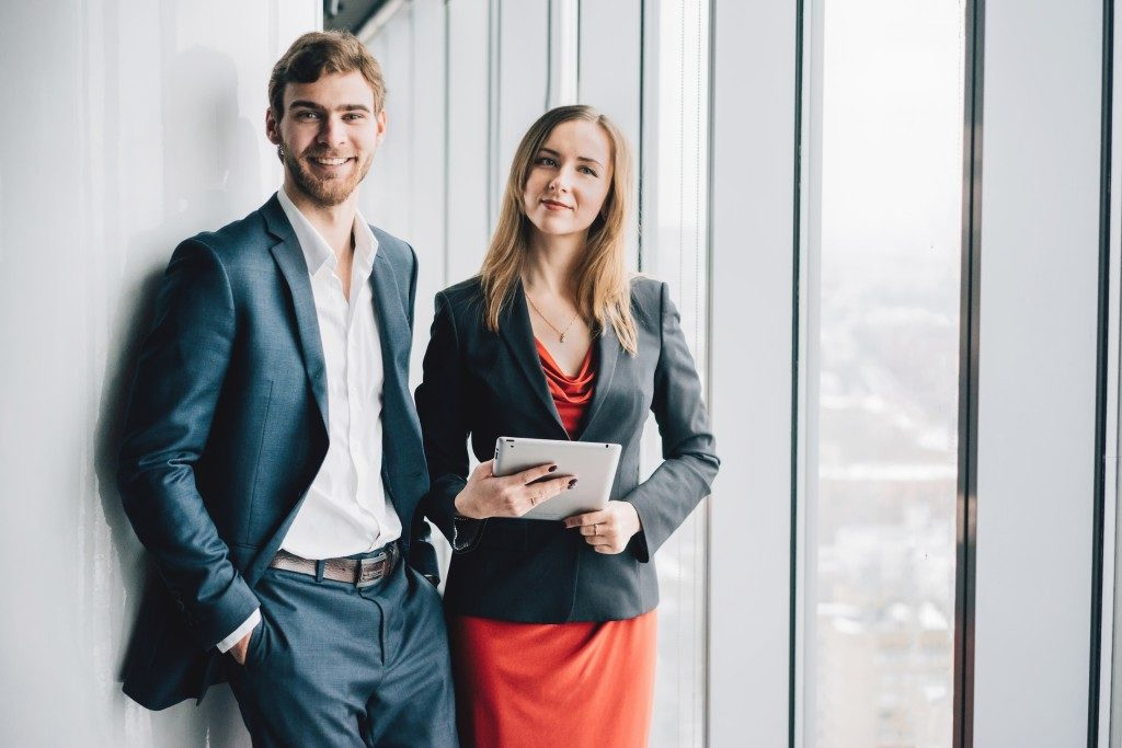 two employees in the corporate world
