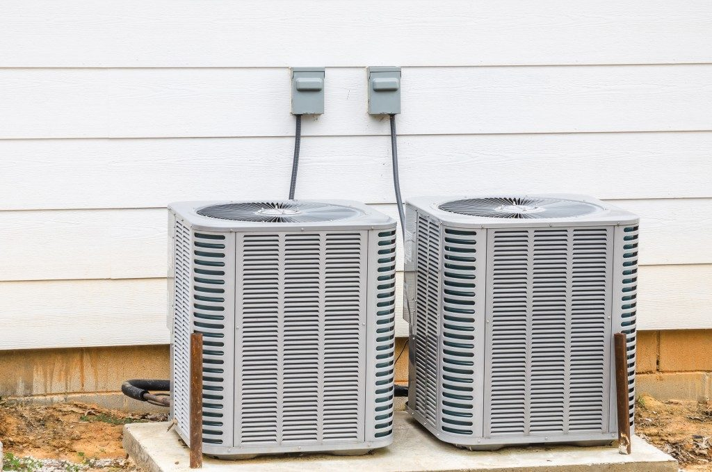 Two newly installed HVAC units