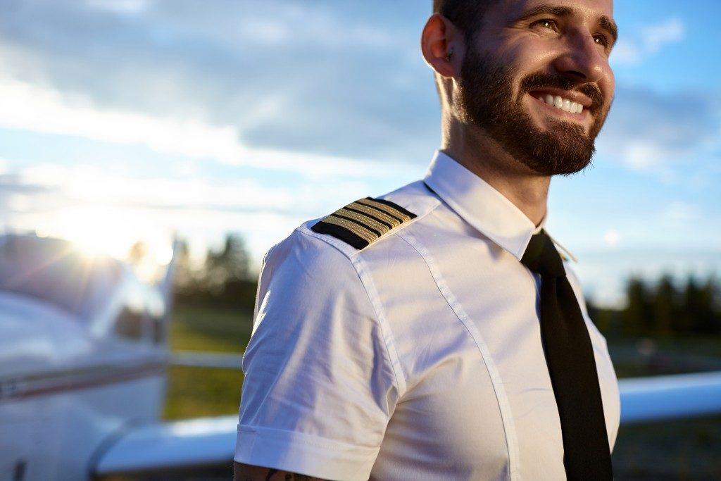 male pilot in uniform