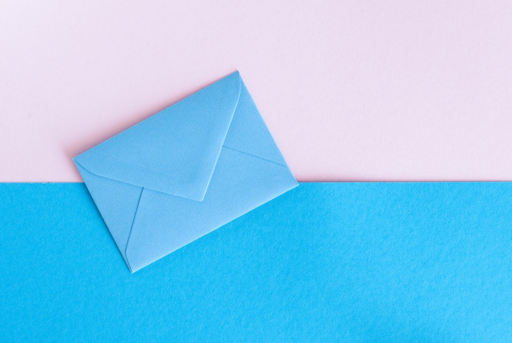 colorful envelope and background