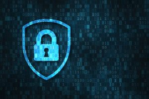 virtual blue security icon