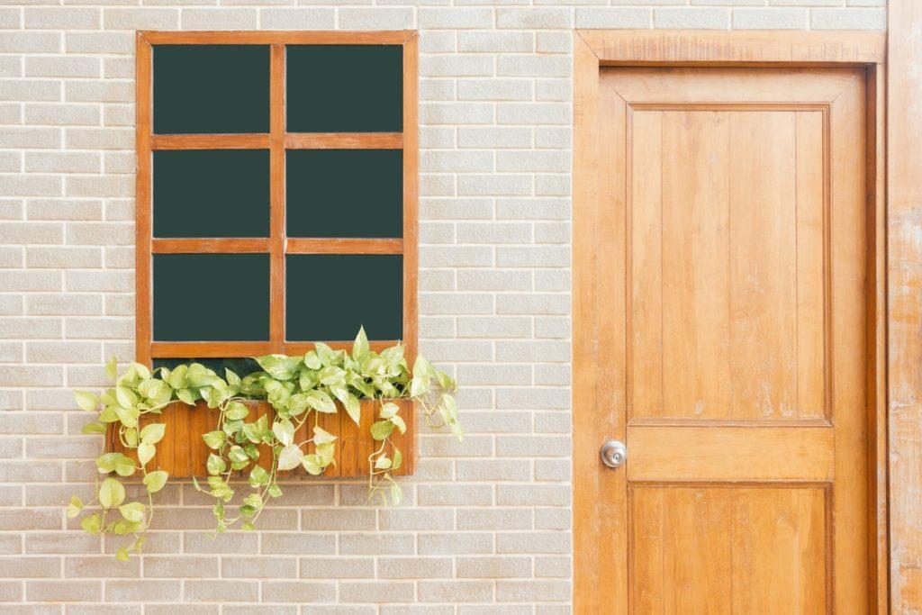 house door and window